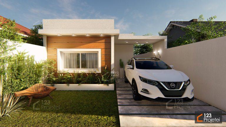 Projeto pequeno: #338 é um projeto de casa térrea de apenas 58m²