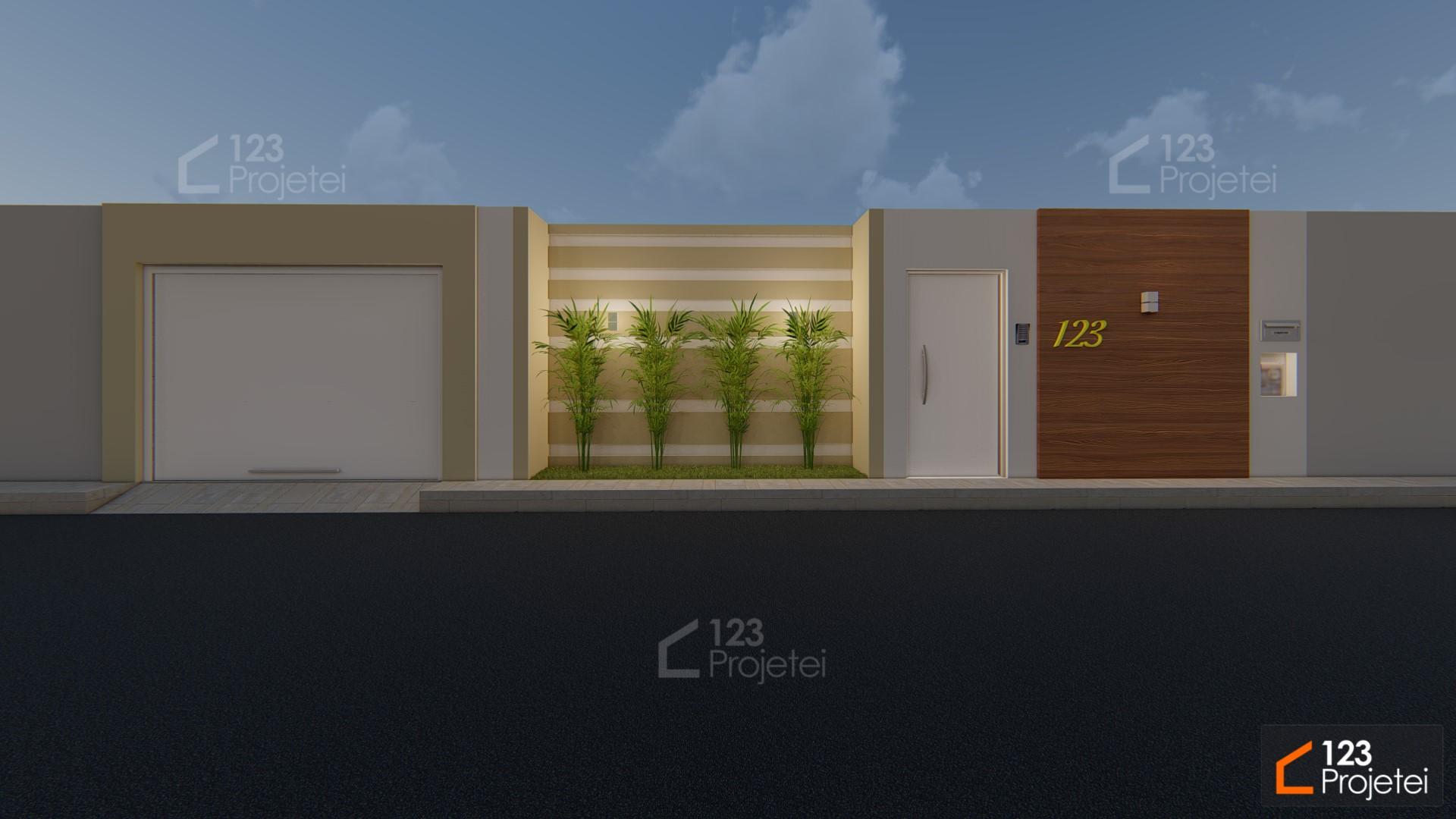 Projetos com muros na fachada são uma ótima opção de segurança e privacidade!