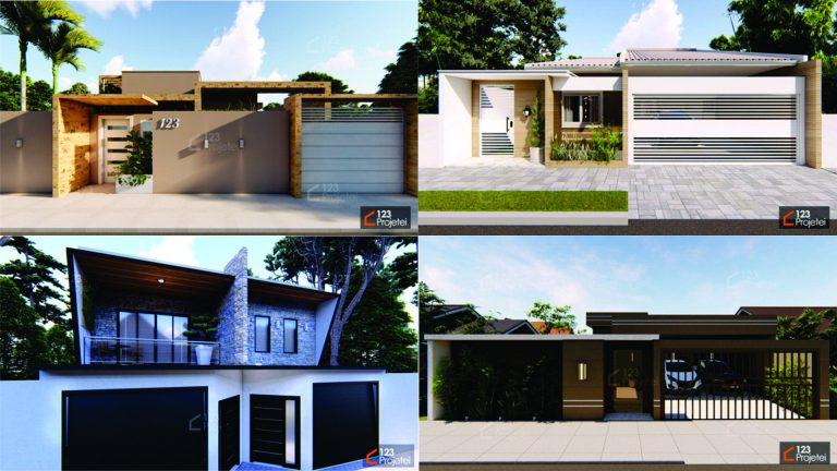Entrada da Casa: Muros, Portões e Garagem