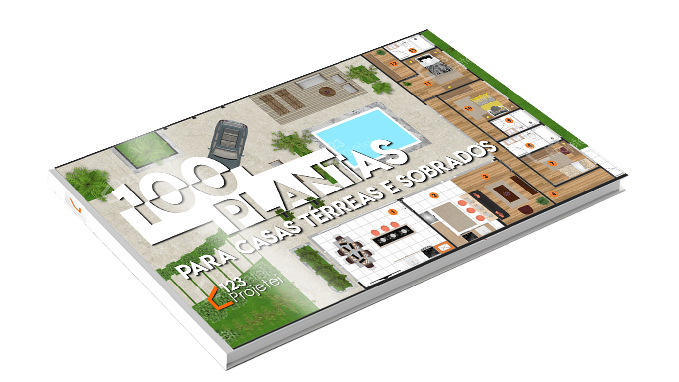 Ebook – 100 Plantas para Casas Térreas e Sobrados