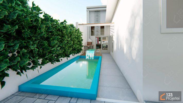 piscina em casa compacta
