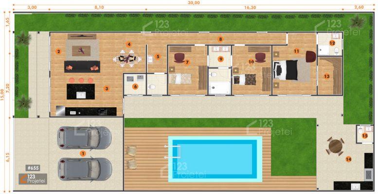 casa-em-L-com-piscina