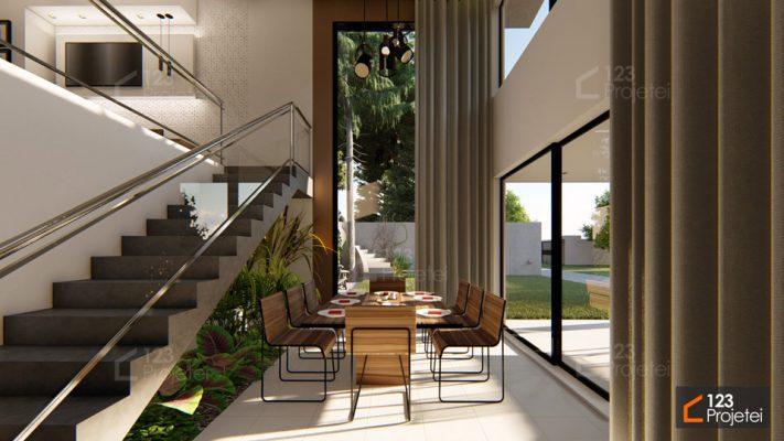 modelos de escadas retas