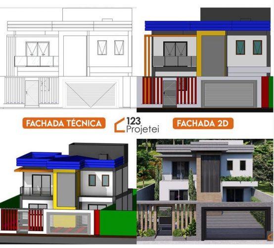 projeto arquitetonico fachada